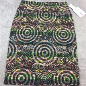 Lularoe Cassie pencil skirt circle paisley medium